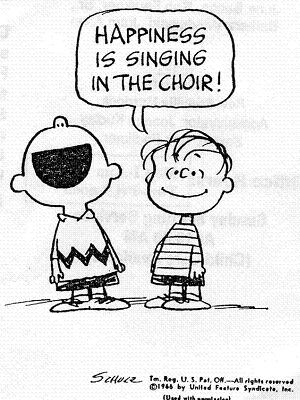 Peanuts Choir Cartoon