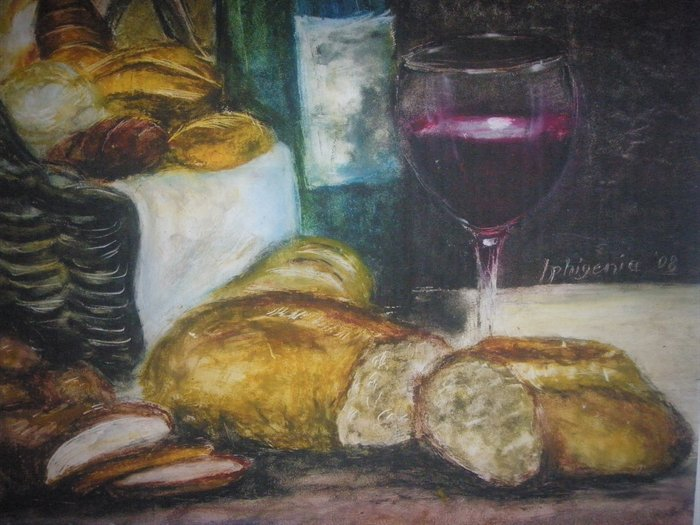 Bread-and-wine-detail