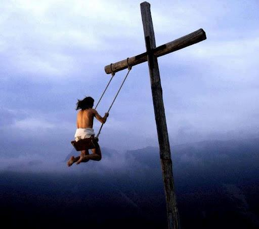 Jesus swinging
